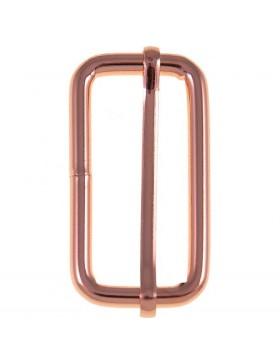 Schieber / Stopper 40 mm rose rosegold Gold Kupfer Leiterschnalle