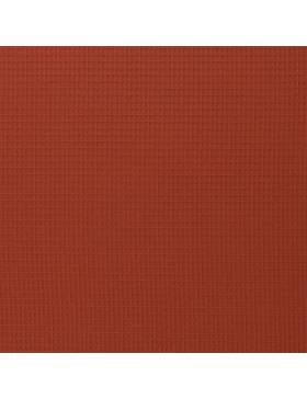 Waffelpique Waffelstoff terracotta rost uni einfarbig