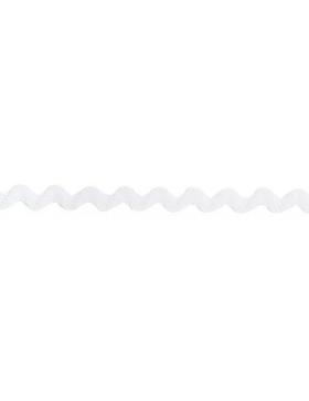 1m Zackenlitze weiß 10 mm breit 009