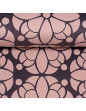 Samt Velvet Pretty Blumen rose grau anthrazit retro by Cherry Picking