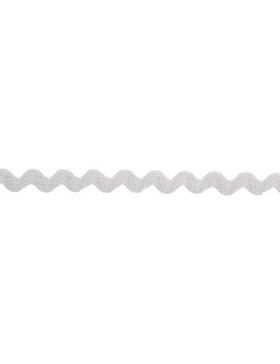 1m Zackenlitze hellgrau grau 10 mm breit 004