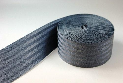 Gurtband grau Auto Sicherheitsgurt 38 mm breit
