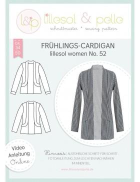 Schnittmuster Lillesol & Pelle Frühlings Cardigan Nr. 52 Damen