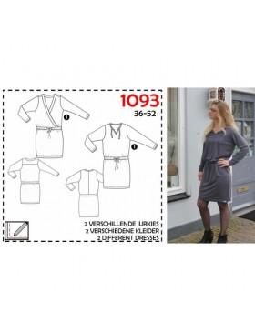 Schnittmuster Its a fits 1093 Shirt Kleid Wickeloptik Damen