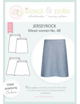 Schnittmuster Lillesol & Pelle Jerseyrock Nr. 48 Damen