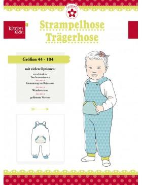 Schnittmuster Strampelhose Trägerhose Kinder Klimperklein Farbenmix