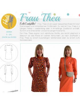 Papierschnittmuster Kleid Frau Thea Puffärmel Hedi näht