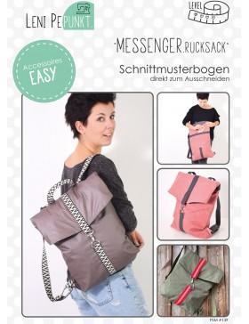 Papierschnittmuster Messenger Rucksack LeniPepunkt 139