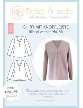 Schnittmuster Lillesol & Pelle Shirt mit Knopfleiste Nr. 53 Damen