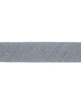 1m Baumwoll-Schrägband hellgrau grau 004 gefalzt 30 mm breit