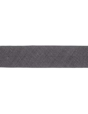1m Baumwoll-Schrägband anthrazit dunkelgrau 002 gefalzt 20 mm breit