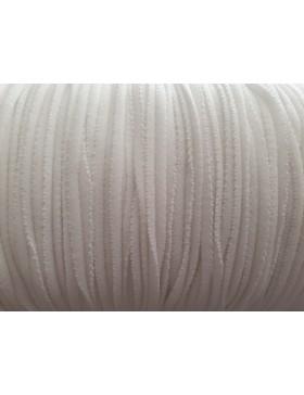 1m Elastic Gummikordel Gummiband 2mm weiß für Behelfsmasken...