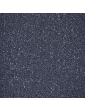 Bündchen Stoff Glitzer dunkelblau silber