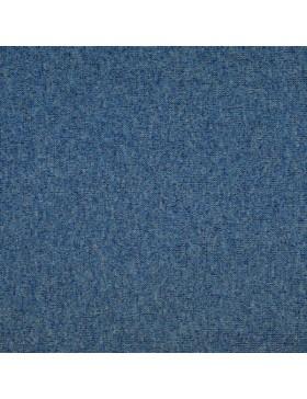 Bündchen Stoff Glitzer blau melange