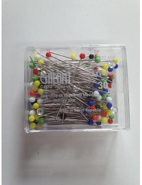 Stecknadeln mit Glaskopf 48 mm lang