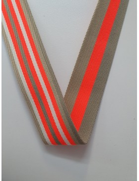 1 Meter Gurtband beige orange neonorange 40 mm breit Polyester...