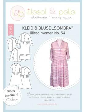 Schnittmuster Lillesol & Pelle Kleid & Bluse Sombra Nr. 54 Damen