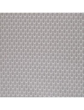 Beschichtete Baumwolle Zacken Blätter grau hellgrau Leona