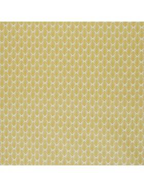 Beschichtete Baumwolle Zacken Blätter senf senfgelb gelb Leona