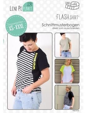 Papierschnittmuster Flash Shirt T-Shirt Leni Pepunkt 144 Schnittmuster