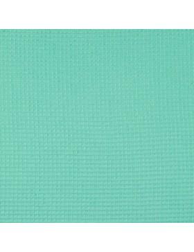 Waffelpique Waffelstoff mint mintgrün leuchtend uni einfarbig