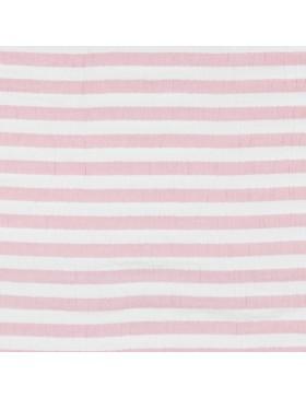 Musselin Stoff Streifen gestreift pink dunkles rosa weiß Double Gauze