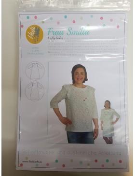 Schnittmuster Frau Smilla Hedi Näht Kleid Bluse Rüschen Rüsche Damen
