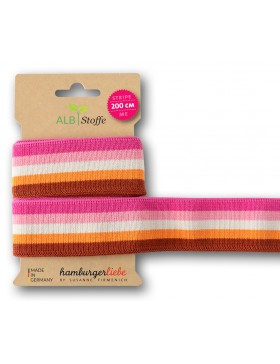 Stripe me College pink rosa creme orange bordeaux Bloom Zierband...