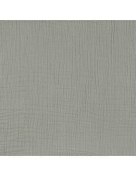 Musselin Stoff grau hellgrau uni einfarbig