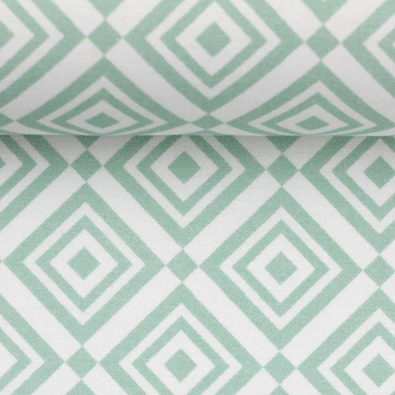 Baumwolle Stoff Grafische Muster Aqua Taupe Clarasstoffe De
