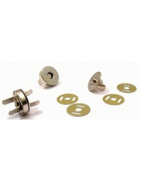 5 Magnetknöpfe 15 mm Durchmesser silber