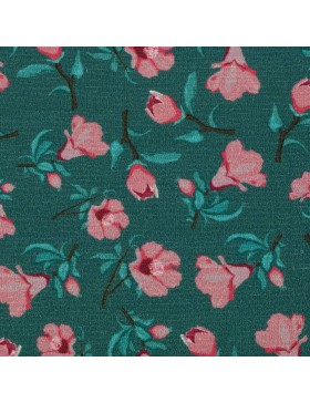 Jersey Granada smaragd rose Blümchen Blumen Bienvenido Colorido