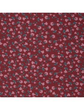 Jersey Granada bordeaux rose Blümchen Blumen Bienvenido Colorido