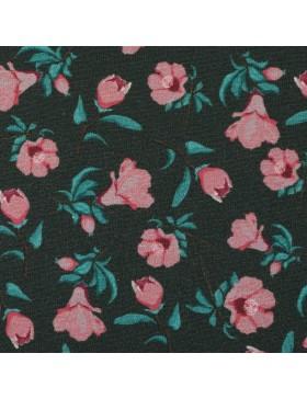 Jersey Granada anthrazit rose Blümchen Blumen Bienvenido Colorido