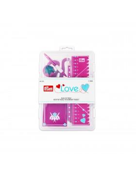 Starterbox Prym pink Schere Clips Stecknadeln etc.