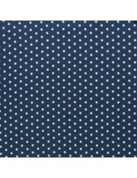 Baumwolle Webware kleine Sterne jeansblau Carrie Baumwollstoff