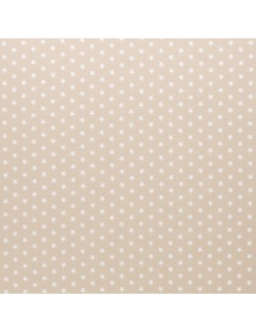 Baumwolle Webware kleine Sterne beige Carrie Baumwollstoff