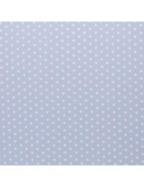 Baumwolle Webware kleine Sterne hellblau Carrie Baumwollstoff