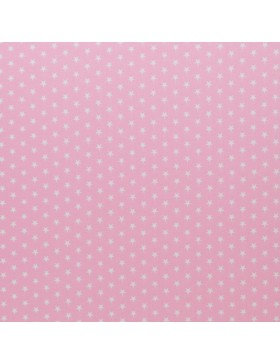 Baumwolle Webware kleine Sterne hellrosa Carrie Baumwollstoff