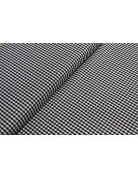 Stoff Baumwolle schwarz kariert Vichy Karo 3 mm