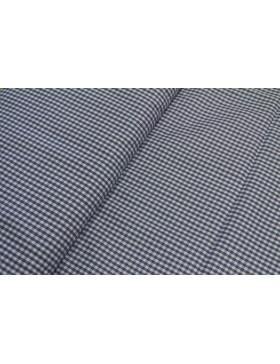 Stoff Baumwolle blau kariert Vichy Karo 3 mm