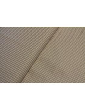 Stoff Baumwolle beige kariert Vichy Karo 3 mm