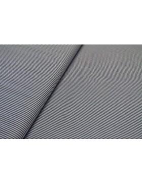 Baumwolle royalblau weiß gestreift 1mm schmal