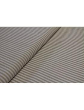 Stoff Baumwolle beige weiß gestreift Streifen 3mm