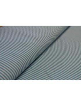 Stoff Baumwolle türkis weiß gestreift 3 mm