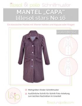 Schnittmuster Lillesol Stars No 16 Mantel Capa Kindermantel