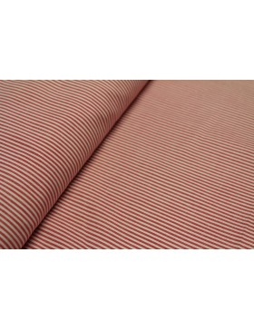 Baumwolle rot weiß gestreift 1mm schmal