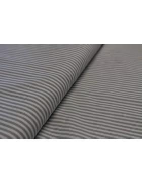 Stoff Baumwolle hellgrau weiß gestreift Streifen 3mm