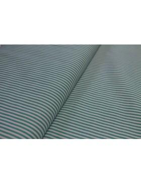 Stoff Baumwolle türkis weiß gestreift 3mm