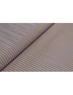 Stoff Baumwolle flieder weiß gestreift 3mm